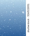 falling snow on blue background.... | Shutterstock .eps vector #526522051