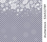 falling snowflakes  on...   Shutterstock .eps vector #526522789