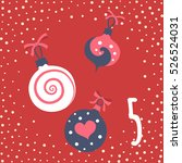 page advent calendar 25 days of ... | Shutterstock .eps vector #526524031