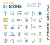 set line icons game golf and... | Shutterstock . vector #526524421