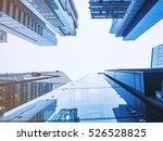 skyscrapers in cool tones in a... | Shutterstock . vector #526528825