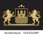 coat of arms   shield with... | Shutterstock .eps vector #526531489
