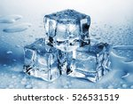 pyramid of melted ice cubes... | Shutterstock . vector #526531519