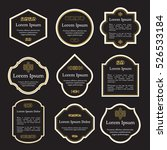 set of elegant gold and black...   Shutterstock .eps vector #526533184