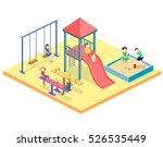 isometric flat 3d concept web... | Shutterstock . vector #526535449