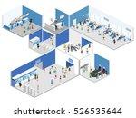 isometric flat 3d concept... | Shutterstock . vector #526535644