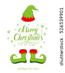 green hat and shoes elf... | Shutterstock .eps vector #526539901