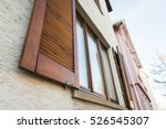 european windows wooden... | Shutterstock . vector #526545307