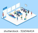 isometric flat 3d concept... | Shutterstock . vector #526546414