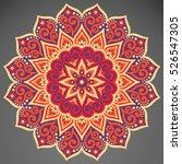 vector indian mandala | Shutterstock .eps vector #526547305