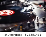 party dj turn table vinyl... | Shutterstock . vector #526551481