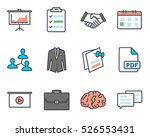 business meeting colored filled ... | Shutterstock .eps vector #526553431