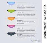 timeline infographic design... | Shutterstock .eps vector #526555615