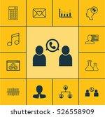 set of 12 universal editable... | Shutterstock .eps vector #526558909