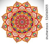 vector indian mandala | Shutterstock .eps vector #526560055