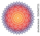 vector indian mandala | Shutterstock .eps vector #526560721