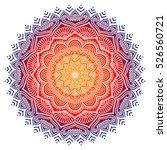 vector indian mandala | Shutterstock .eps vector #526560721