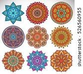 vector indian mandala   Shutterstock .eps vector #526560955