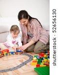 mother and daughter having fun... | Shutterstock . vector #52656130