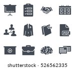 business meeting solid glyph... | Shutterstock .eps vector #526562335