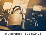 security lock on credit cards   ... | Shutterstock . vector #526562425