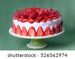 Strawberry Cake With Vanilla...