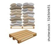 canvas sacks  vector... | Shutterstock .eps vector #526564651