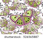 abstract butterfly  stylish... | Shutterstock .eps vector #526565887