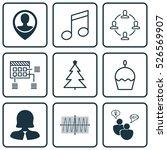 set of 9 universal editable... | Shutterstock .eps vector #526569907