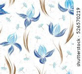 floral seamless pattern of...   Shutterstock .eps vector #526570219