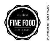 fine food vintage stamp vector | Shutterstock .eps vector #526570297