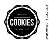 cookies vintage stamp vector | Shutterstock .eps vector #526570315