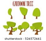 cartoon tree icon. vector set   Shutterstock .eps vector #526572661