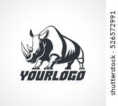 rhino stylization logo sign... | Shutterstock .eps vector #526572991
