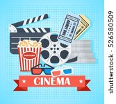 cinema concept poster template... | Shutterstock .eps vector #526580509