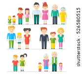 big happy family with happy... | Shutterstock .eps vector #526580515