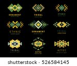 colorful  aztec style... | Shutterstock .eps vector #526584145