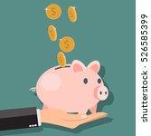 money savings with piggy  ...   Shutterstock .eps vector #526585399