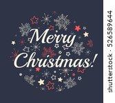christmas ball in cartoon style....   Shutterstock .eps vector #526589644