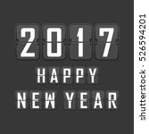 happy new year 2017 vector... | Shutterstock .eps vector #526594201