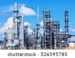 refinery tower in petrochemical ... | Shutterstock . vector #526595785