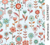 vector flower pattern. colorful ... | Shutterstock .eps vector #526599007