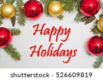 christmas decoration with text... | Shutterstock . vector #526609819