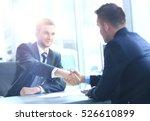 businessman shaking hands to... | Shutterstock . vector #526610899