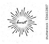 vintage burst light rays.... | Shutterstock .eps vector #526612807