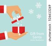 gift from santa claus. santa... | Shutterstock .eps vector #526613269