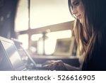Girl Using Her Laptop