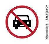 no car or no parking vector... | Shutterstock .eps vector #526618609