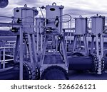 Small photo of Set of pneumatically actuated knife gate valves