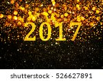 new year decoration closeup on... | Shutterstock . vector #526627891